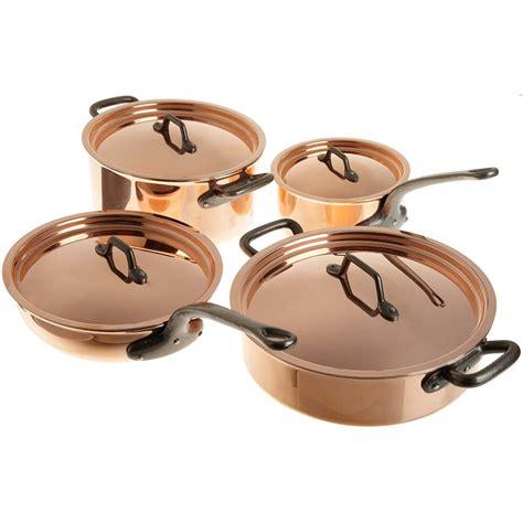 copper cookware set matfer bourgeat copper cookware set 8 915901