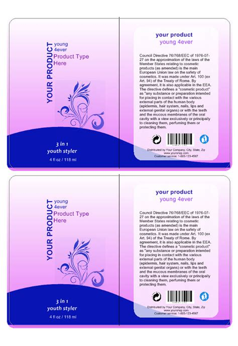 Cosmetic Label Templates