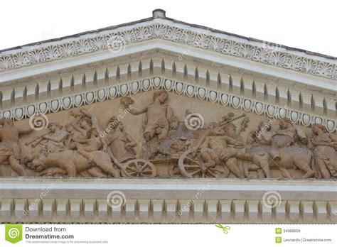 villa il cardinale rome roman villa historic elegant ellenistic pediment in rome isolated royalty free stock