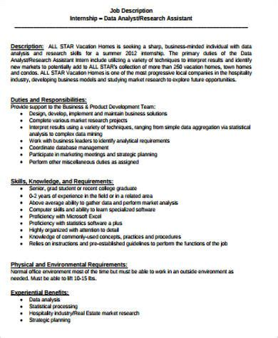 research analyst description research analyst description sle 10 exles in