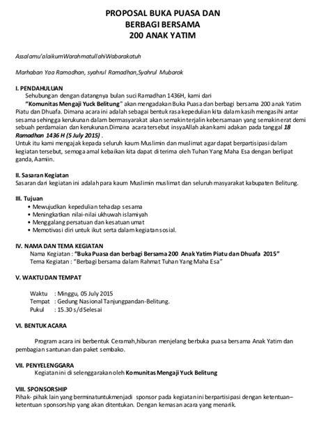 format surat keterangan yatim piatu proposal 1