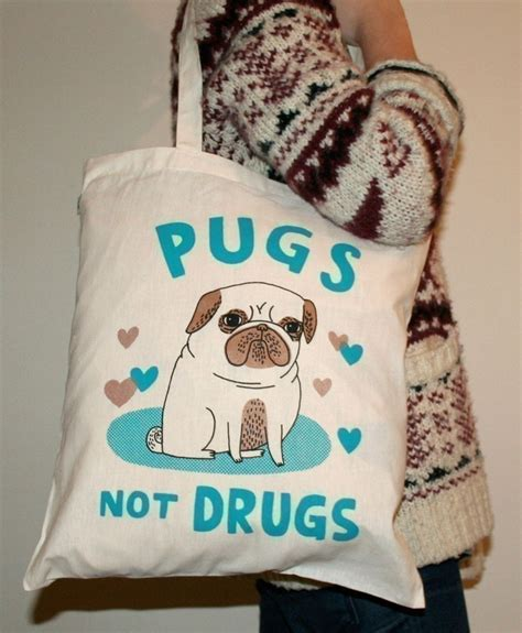 gemma correll pugs not drugs pugs not drugs tote bag original