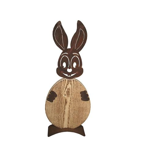 rost hase quot christl quot mit ei aus holz edelrost osterhase f 252 r