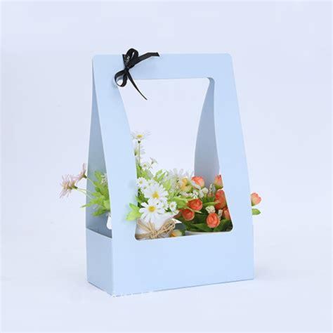 paper flower basket portable basket flowers carton packing