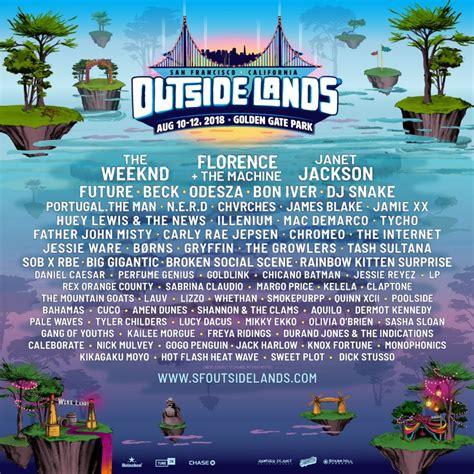 printable outside lands schedule outside lands 2018 reveals lineup details ticket information