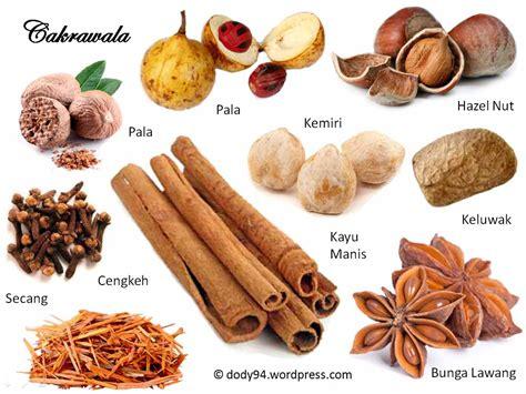 daftar lengkap tanaman rempah rempah bumbu  penyedap