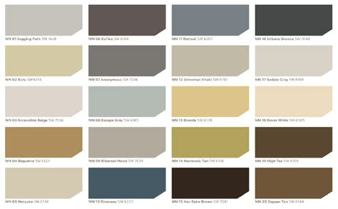 color nuance sherwin williams neutral nuance color palette every