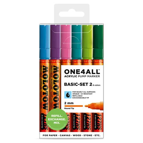 Basic Set 2 by One4all 127hs Basic Set 2 Artist Marker Refills