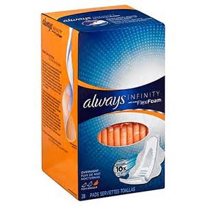 Always Infinity Buy Always Infinity 28 Count Overnight Pads With Wings