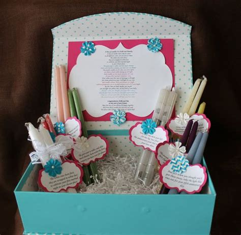 wedding shower candle poem gift set bridal candle basket