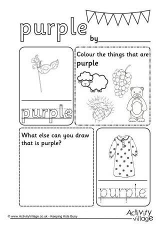 the color purple book worksheets colour worksheets for kindergarten colours worksheets