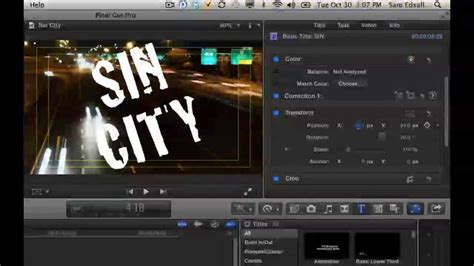 final cut pro how to add text creating text mask effects with final cut pro x youtube