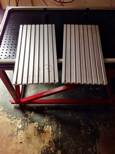 aluminum t slot table top aluminum t slot bed upgrades inventables community