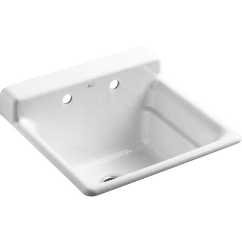Kohler Laundry Room Sinks Shop Kohler Biscuit Cast Iron Kohler Laundry Room Sink