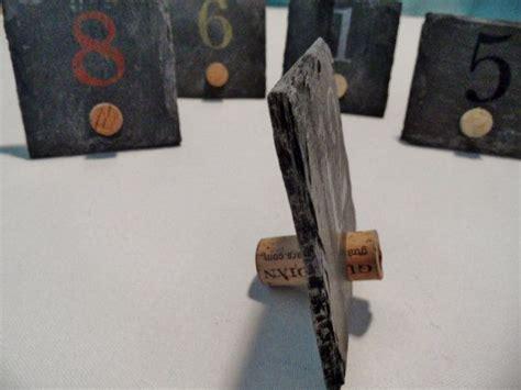 wine cork table numbers wine cork slate table numbers wine cork ideas
