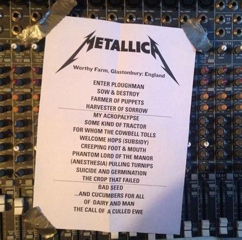 metallica setlist sonisphere laugh off glasto metallica swoop music news