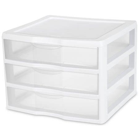sterilite wide 3 drawer unit white available in of