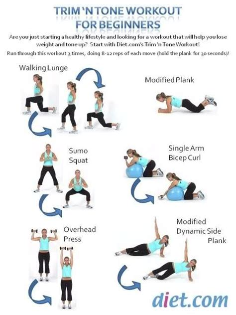 trim n tone workout for beginners time to get fit