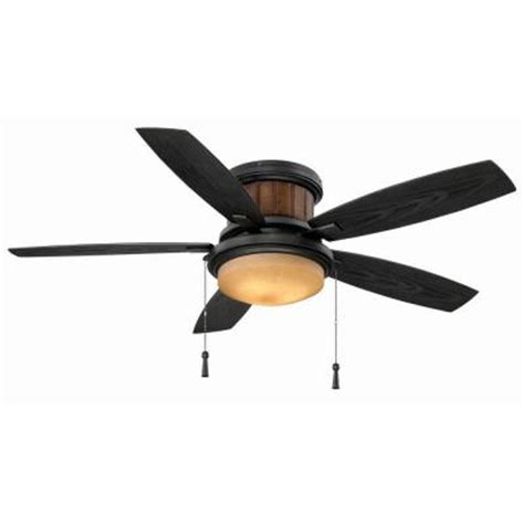 hton bay roanoke 48 in iron indoor outdoor ceiling fan