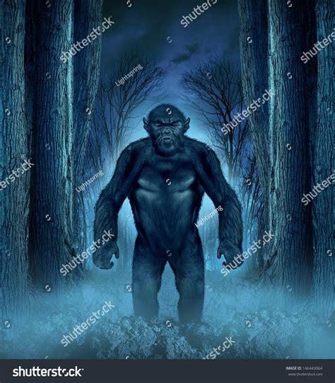 shutterstock stock bigfoot monster forest monster concept werewolf lurking bigfoot stock