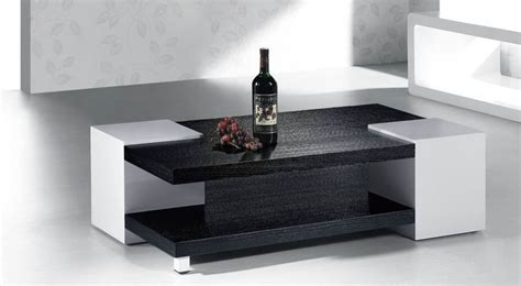 glam in monochrome with white and black coffee table