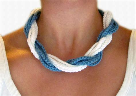 Free Pattern Necklace Crochet | ta bay crochet free crochet pattern chunky twist