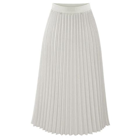 layer chiffon pleated dress elastic