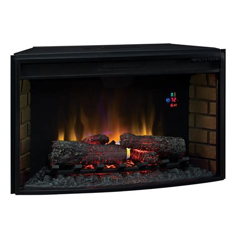 32 quot classicflame spectrafire curved electric fireplace