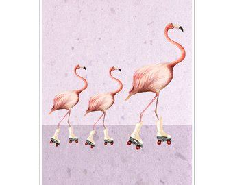 Wall Decor Printed Poster Flamingo https youtu be 5bqvalxnx0w by cocktailzoo on etsy