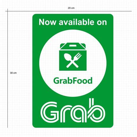jual cutting sticker grab food stiker kaca cafe warung