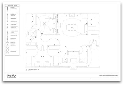 New Course Lighting And Electrical Plan Template For