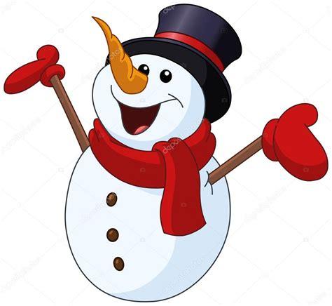 neve clipart boneco de neve levantando os bra 231 os vetor de stock