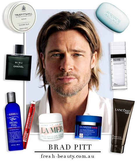 actors hair products for men celebrity dad spotlight the beauty products brad pitt