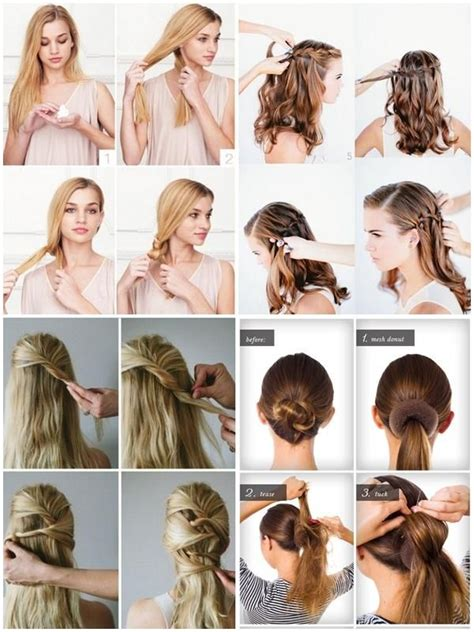 easy hairstyle step  step quick hairstyles quick