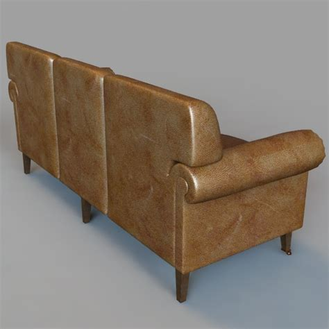 rolled arm settee rolled arm sofa 3d model max obj 3ds fbx cgtrader com