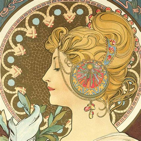 Mucha's Art Nouveau jewelry   The French Jewelry Post by Sandrine Merle