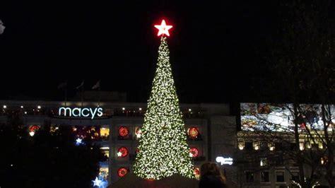 tree lighting ceremony union square san francisco