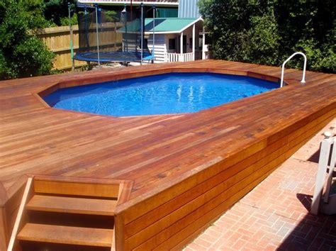 wood pool decks 44 best above ground pool ideas images on pinterest