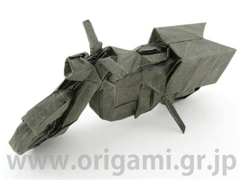 Origami Motorcycle - origami tanteidan magazine volume 24 issue 139 144