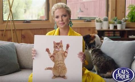 actress in cat s pride commercial cat s pride litter for good program katherine heigl commercial