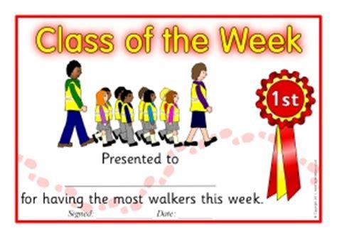 printable walk to school certificates for primary ks1