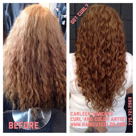 before and after of carleen sanchez curly hair artistry