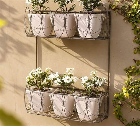 metal wall planter garden wall planters metal interesting ideas for home