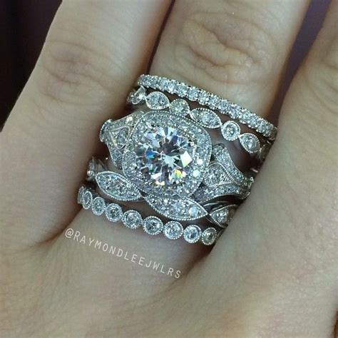 Wedding Ring Stack by Best 25 Stacked Wedding Bands Ideas On