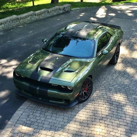 widebody hellcat green 2018 challenger hellcat will get a wide option
