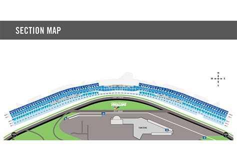 daytona speedway seating diagram maps daytona international speedway