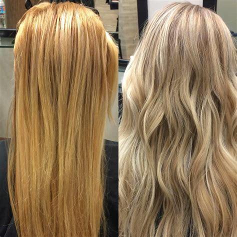 before orange brassy hair after beautiful ash blonde my hair brassy hair raspberry glow