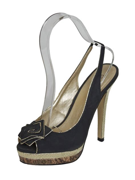 shoes high heels boots black and gold slingback high heels tout ensemble