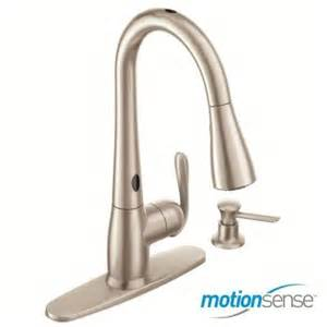 moen haysfield single handle pull sprayer kitchen faucet featuring motionsense in spot