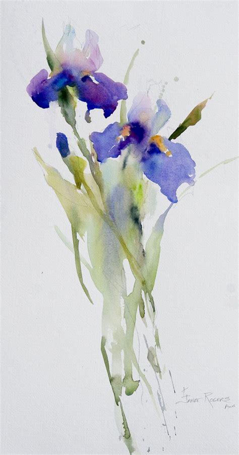 watercolor tutorial iris janet rogers irises watercolor pinterest iris
